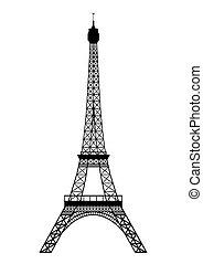 Tour Eiffel isolated