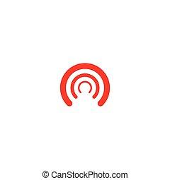 tour, illustration, sans fil, icône, vecteur, logo