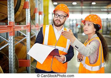 tour, inspection, usine
