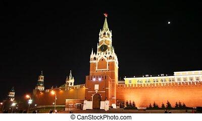 tour, moscou, kremlin, heure
