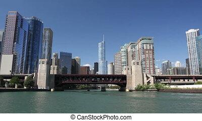 tour, rivière, chicago
