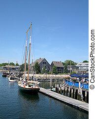 Tour Schooner - schooner of tourists prepares to depart from...