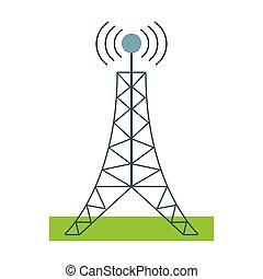 tour, télécommunication, antenne