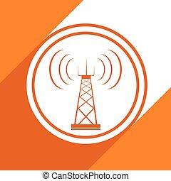 tour, télécommunications, icône
