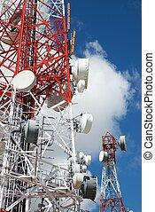 tour, télécommunications, vue