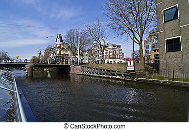 Tour through the channel in Amsterdam. - View from the ...