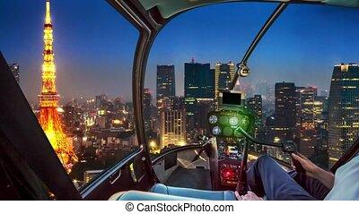 tour tokyo, hélicoptère