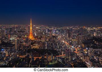 tour tokyo, temps nuit