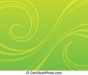 tourbillon, arrière-plan vert