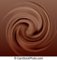 tourbillon, chocolat, crème