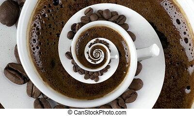 tourbillon, dépendance, caféine