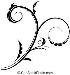 tourbillon, fleurir, dessin
