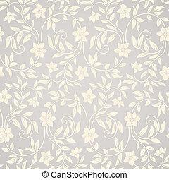 tourbillon, floral, seamless, fond