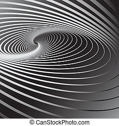 tourbillon, illusion., mouvement