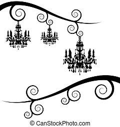 tourbillon, membre, lustre, arbre