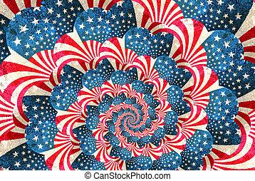 tourbillon, patriotique, grunge, raies, étoiles