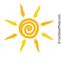 tourbillon, soleil, vecteur