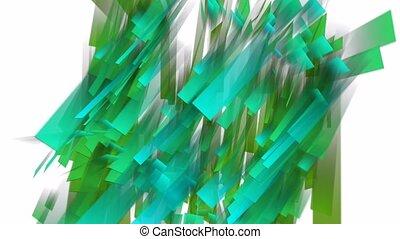 tourbillonner, feuilles, rectangulaire
