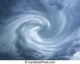 tourbillonner, nuages