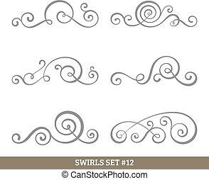 tourbillons, collection, calligraphic
