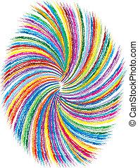 tourbillons, coloré, fond