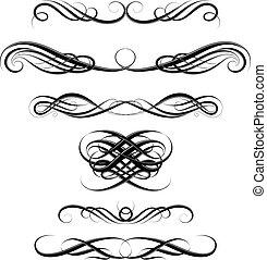 tourbillons, ensemble, calligraphic