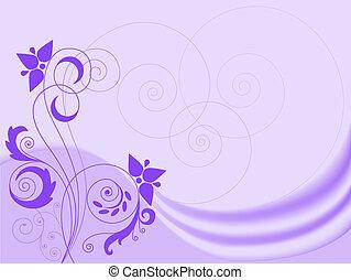 tourbillons, lilas, fond