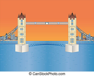 tourdu pont, coucher soleil