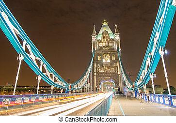 tourdu pont, -, londres, nuit