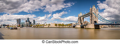 tourdu pont, vue, londres, panoramique
