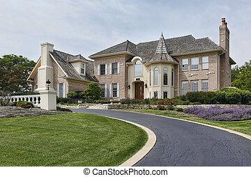 tourelle, maison, luxe