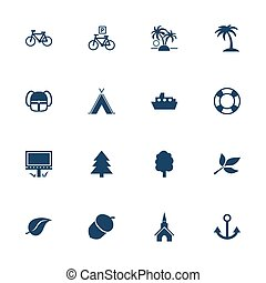 Tourism and leisure icons