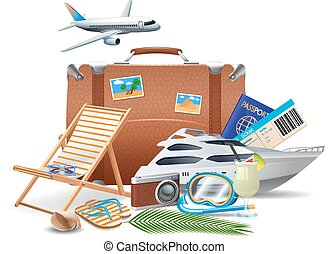 Tourism And Travel Concept - Tourism and travel concept with...