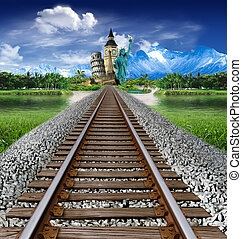 Tourism around the world: go to see monuments and landmarks by train