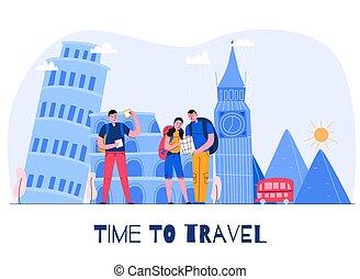Tourism City Illustration