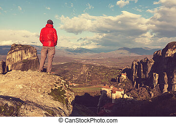 Tourism in Meteora - Tourist in Meteora, Greece