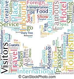 Tourism info-text graphics and arrangement concept (word ...