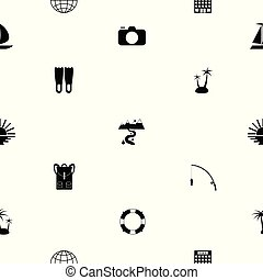 tourism seamless pattern background icon.