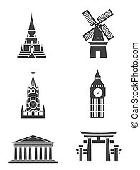 Tourism Sign Symbol set