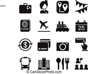 Tourism & Tourist icons set Vector illustration