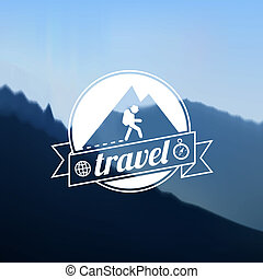 Tourism travel logo design