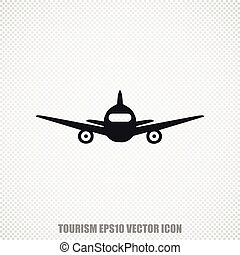 Tourism vector Aircraft icon. Modern flat design.