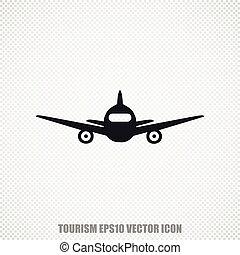 Tourism vector Aircraft icon. Modern flat design.