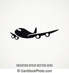 Tourism vector Airplane icon. Modern flat design.