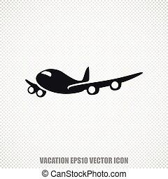 Tourism vector Airplane icon. Modern flat design.