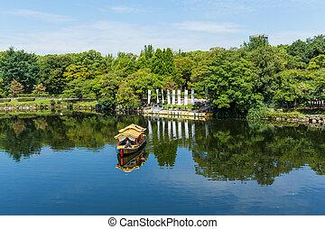 tourisme, bateau, sur, rivière