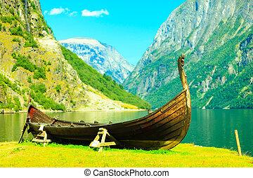 tourisme, et, travel., montagnes, et, fjord, dans, norway.