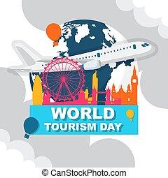 tourisme, mondiale, londres, jour, angleterre, royaume, voyage, ville, europe, uni