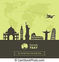 tourisme voyage, fond
