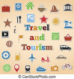 tourisme voyage, icônes